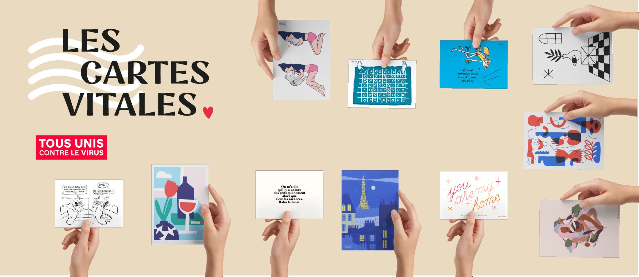 Les cartes vitales, un projet d'artistes pour soutenir les hôpitaux de France