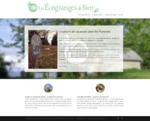 Présentation Écogranges Site web Ariège